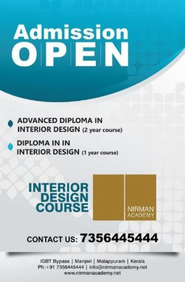 interior design degree course in kerala