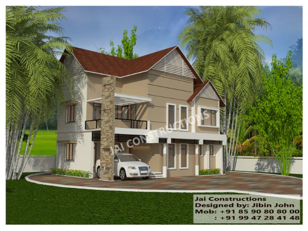 Kerala model home plans ernakulam muvattupuzha home for Model house building materials